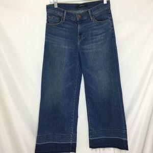 J Brand Liza Mid-Rise  Crop Jeans